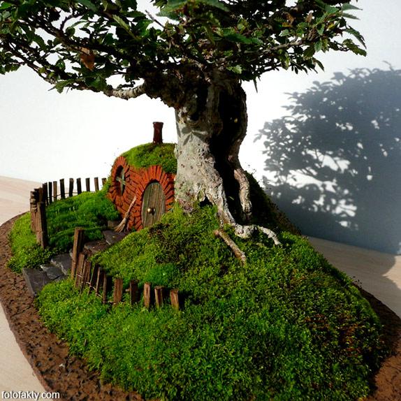 Домик Хоббита в стиле Бонсай Фото 9