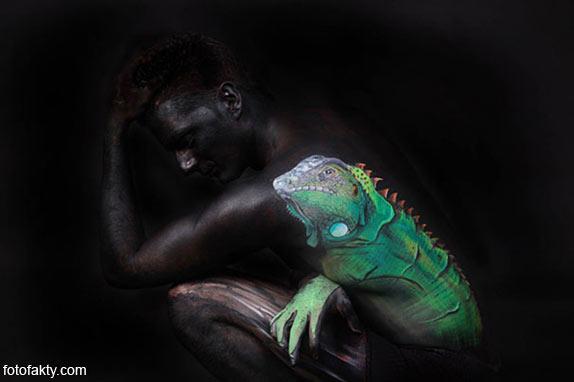 Красивый боди-арт с еффектом иллюзии Фото 6
