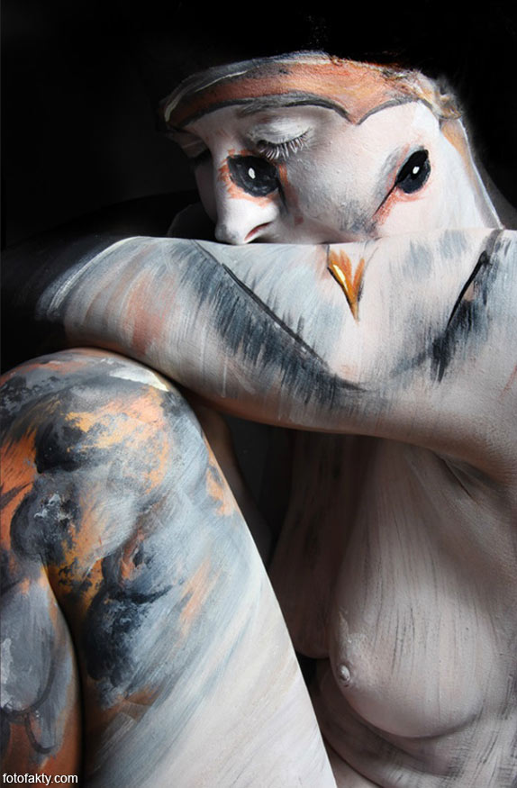 Красивый боди-арт с еффектом иллюзии Фото 11
