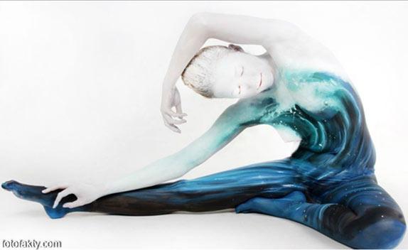 Красивый боди-арт с еффектом иллюзии Фото 16
