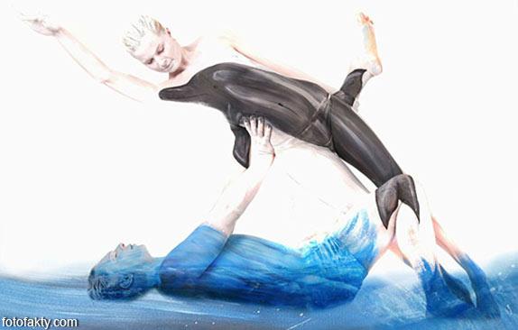 Красивый боди-арт с еффектом иллюзии Фото 9