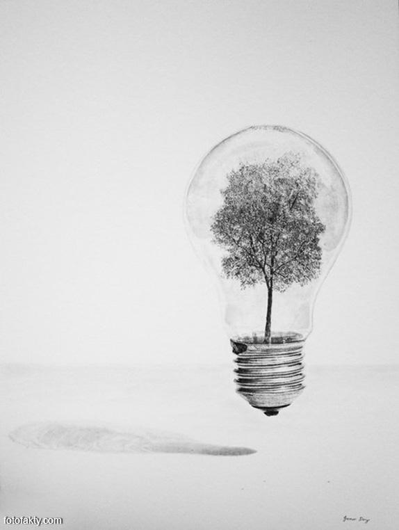 Джоно Драй и его фотореалистичные рисунки карандашом Фото 8