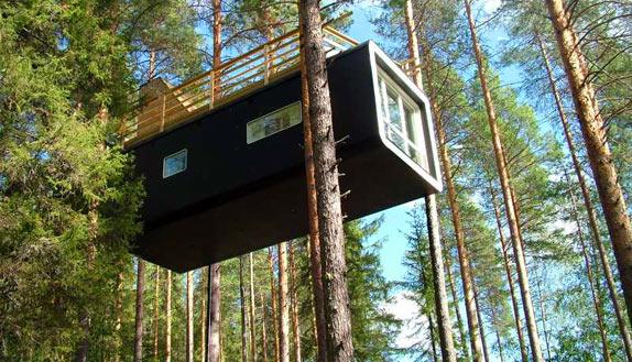 Treehotel - необычный лесной отель в Швеции