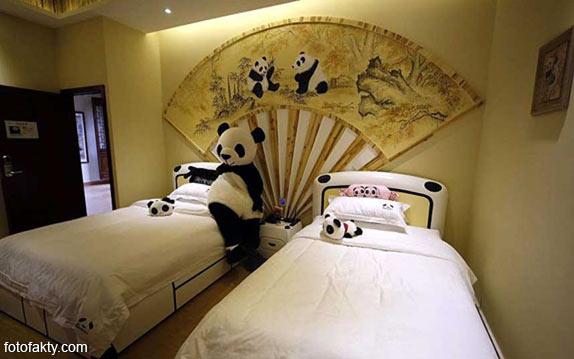 Тематический панда-отель в Китае Фото 5