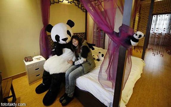 Тематический панда-отель в Китае Фото 6