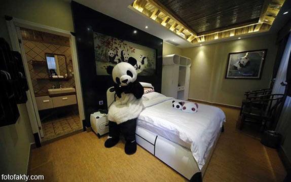 Тематический панда-отель в Китае Фото 7