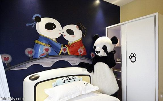 Тематический панда-отель в Китае Фото 8