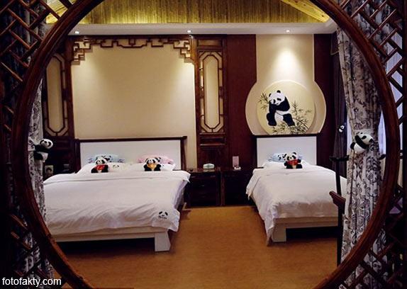Тематический панда-отель в Китае Фото 9