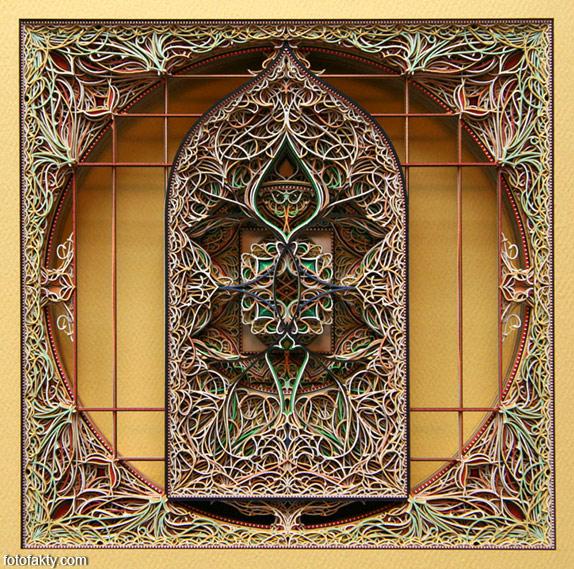 3D витражные окна из бумаги Фото 3
