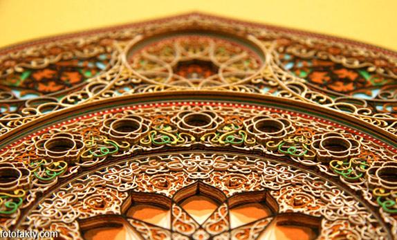 3D витражные окна из бумаги Фото 2