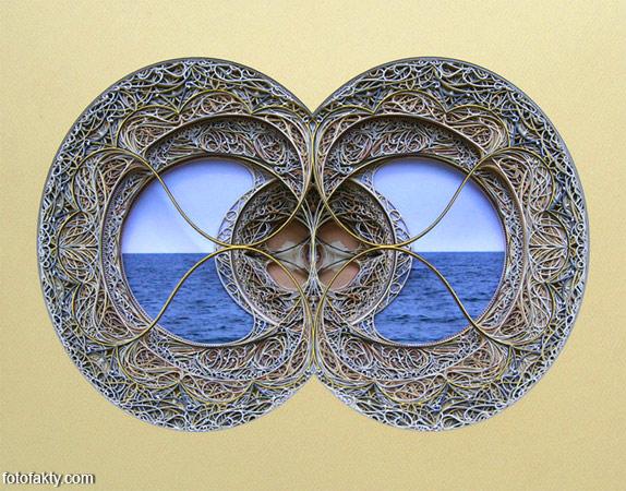 3D витражные окна из бумаги Фото 13