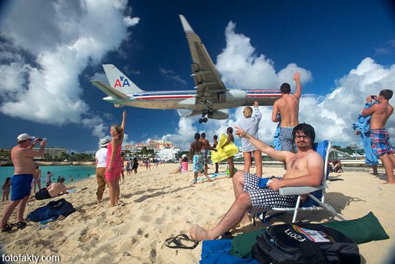 Экстремальные посадки самолетов на Махо Бич, Сен-Мартен Фото 4