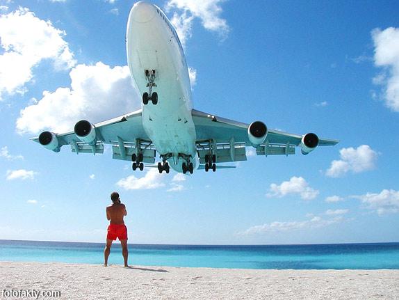 Экстремальные посадки самолетов на Махо Бич, Сен-Мартен Фото 10