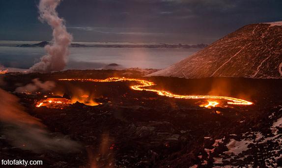Потрясающие фотографии извержение вулкана Плоский Толбачик Фото 4