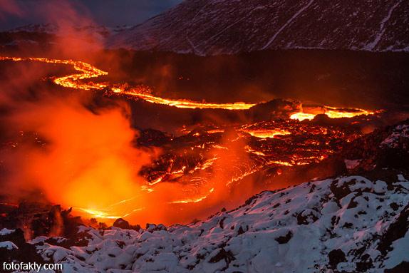 Потрясающие фотографии извержение вулкана Плоский Толбачик Фото 5