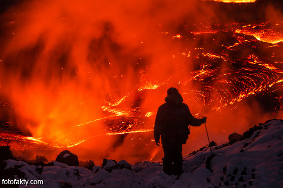 Потрясающие фотографии извержение вулкана Плоский Толбачик Фото 12